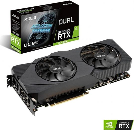 SUS GeForce RTX 2070 Super Overclocked - gaming graphics card for 144fps