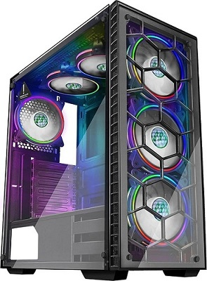 clear pc tower